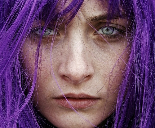 art, blye, coloured hair, eyes, face, frederico erra