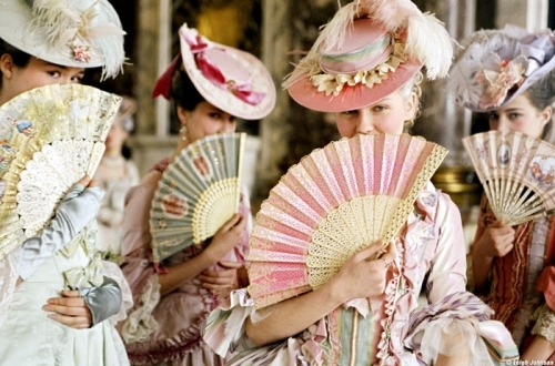 18th century, costume, fans, fashion, film, hats, kirsten dunst, marie antoinette, movie, rococo, sofia coppola