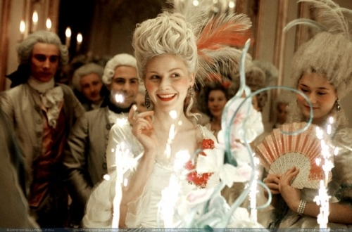 18 century, actors, big hair, birthday, candle, film, kirsten dunst, marie antoinette, movie, party, powdered wig, sophia coppola, sparkle, teenage queen
