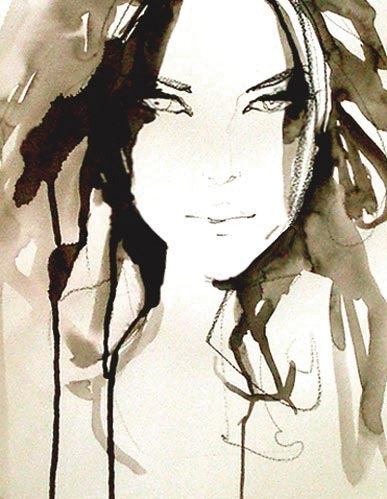 art, artwork, draw, drawing, face, girl, illustration, pretty, sketche, water color, watercolour
