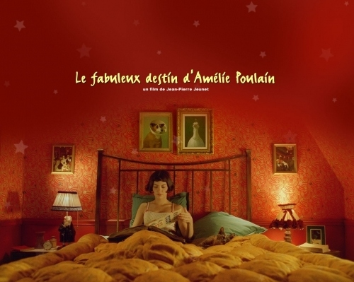 amelie, amelie poulain, audrey tautou, bed, movie, movies