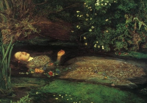 art, dead, death, drowning, green, millais