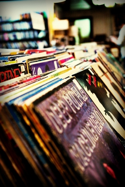 deep purple, music, photography, record albums, records, selective focus