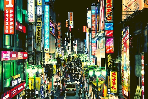 city lights, japan, light, tokyo, urban, urban  city lights  light  japan  tokyo