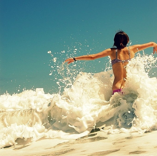 beach, bikini, freedom, fun, girl, ocean