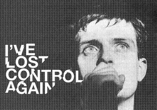 black and white, control, ian curtis, joy division, man, music