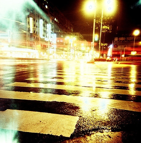 city, city lights, citylife, lights, night, pavement