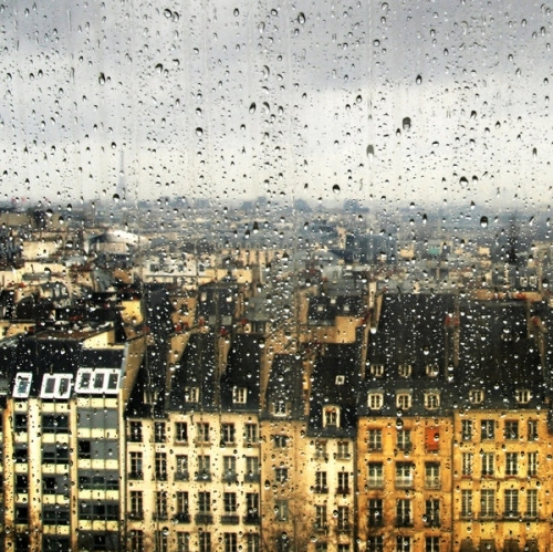 apartments, architecture, buildings, cityscape, dehors, drops window city houses buildings light, facade, paris, places, rain
