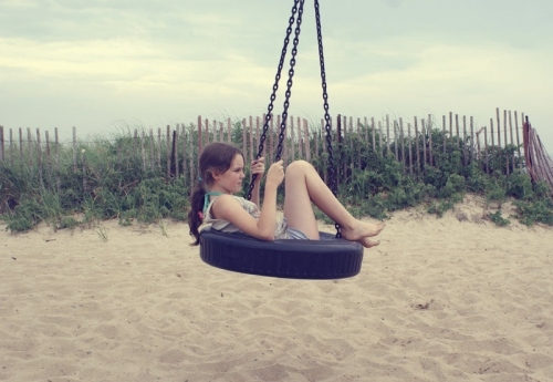 beach, children, freedom, girl, kids, swing