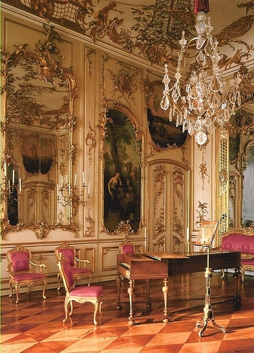 baroque, chairs, chandelier, decor, gold, golden