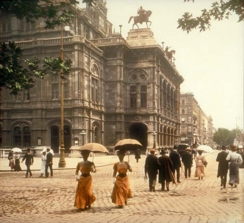 1902, architecture, austria, belle epoque, building, colorized