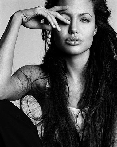 angelina, angelina jolie, beauty, black and white, gorgeous, jolie