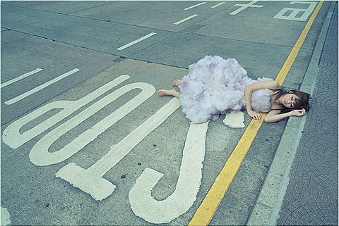 anima, girl, road, sign, sleep, stop, traffic, woman