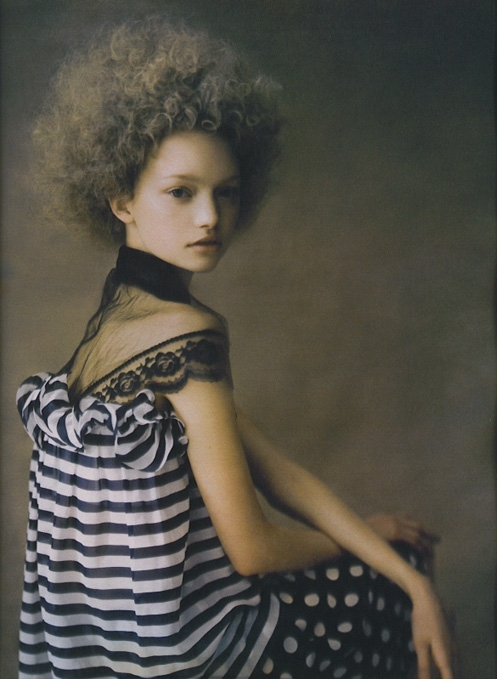 afro, by paolo roversi, cover, dots, fashion, gemma ward