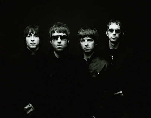 andy bell, black and white, britpop, gallagher, gem archer, liam gallagher
