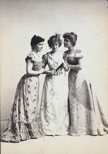 black and white, clique, dresses, edwardian, fashion, friends
