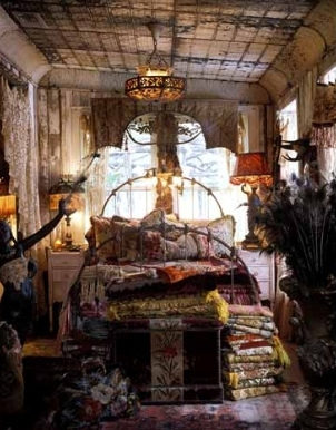 Bed bedroom decor gypsy interior interior design for Gypsy designs interior decorating