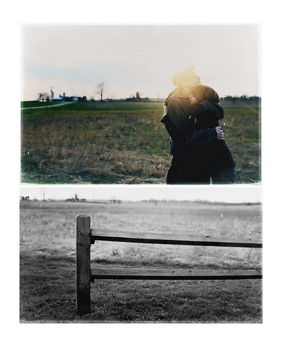 couple, diptych, embrace, hug, love, sunlight