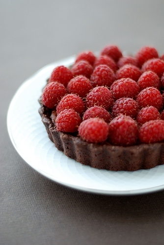 berries, chocolate, dessert, food, raspberries, red, tart