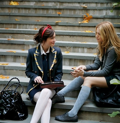 autumn, girl, gossip girl, other, stairs, young