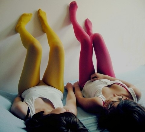 best friends, colorful, friends, girls, glasses, legs, pink, socks, socks or leggings, stock, tights