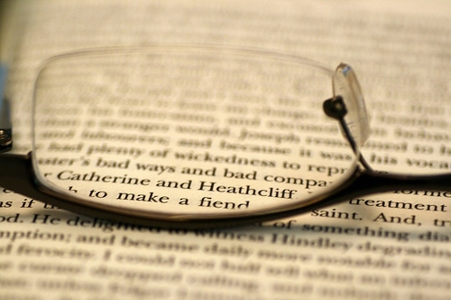 book, bronte, emily bronte, glasses, literature, spectacles