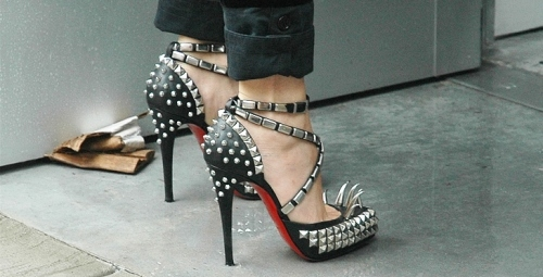 christian louboutin, christian louboutin for rodarte, fashion, heels, louboutin, punk, rodarte