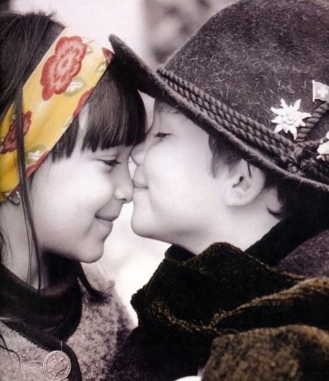 boy, cute, girl, kids, kiss, love