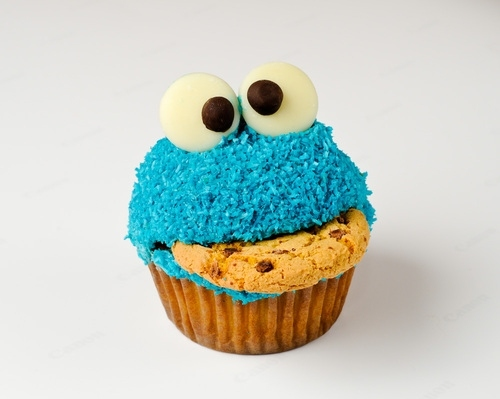 cake blue, character, cookie, cookie monster, cupcake, cupcake blue, cute, delicious, dessert, food, sesame street, yummy