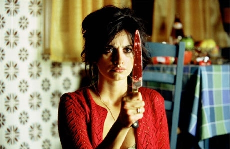 blood, knife, movie, pedro almodovar, penelope cruz, scene, volver