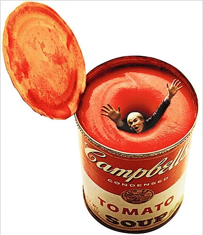 andy warhol, campbells, color, ffffound, funny, red