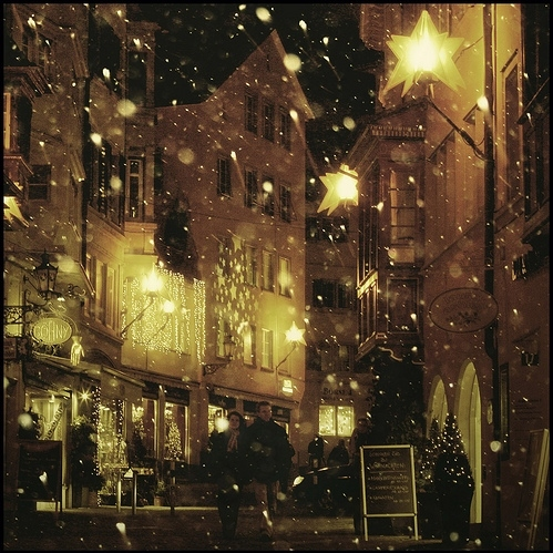 bokeh, christmas, deutschland, europe, evening, germany, lights, snow, travel, winter