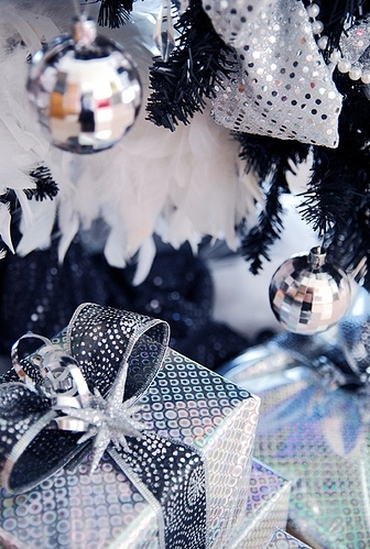christmas, disco ball, gifts, glitter, holidays, presents