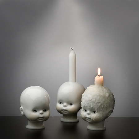 art, burn, candle, ceramic, doll, dolls