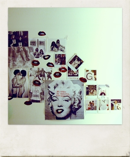 bedroom, collage, interior, interior design, interiors, marilyn