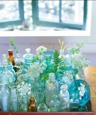 blue, composition, glass, glass bottles, jars, lovely things