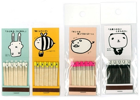 animals, cute, design, graphic design, illustration, kawaii, matches, package, packaging design, print
