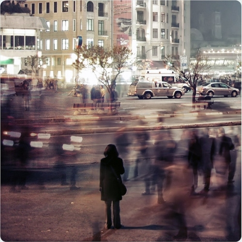 bora, city, city lights, color, crowd, deviant