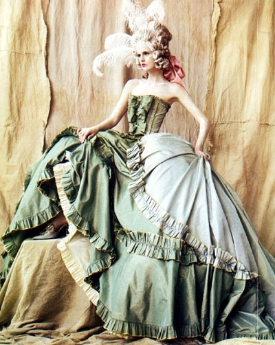 18th century, costume, curtain, fashion, feather, john galliano