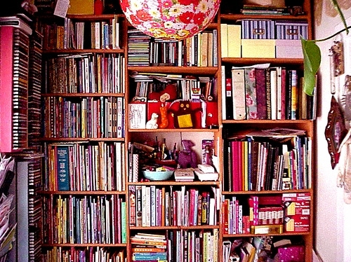 bookcase, books, bookshelf, library, room