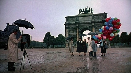 arc de triomphe, audrey hepburn, balloons, fred astaire, funny face, givenchy, movie, paris