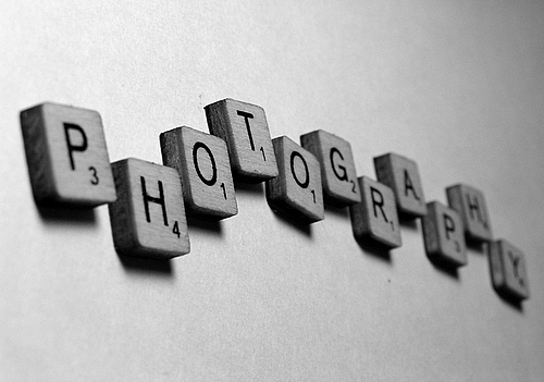 black and white, frivolity, photography, scrabble, text, wood