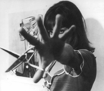 anna karina, black and white, french, pierrot le fou, pretty girl