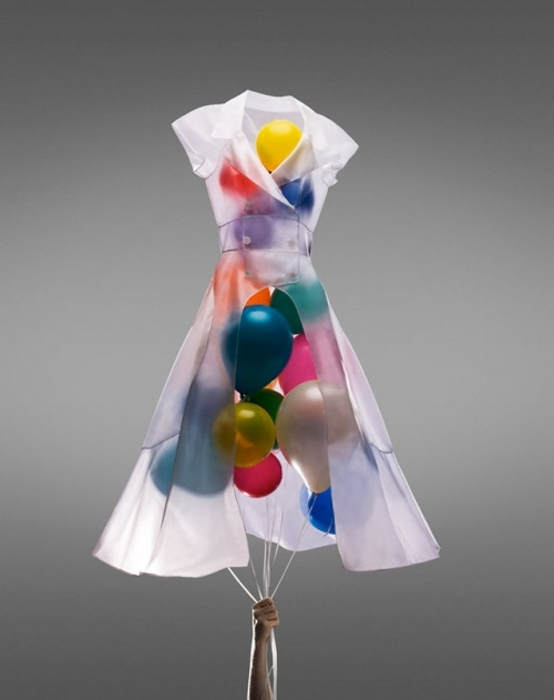 avant garde, balloons, cool, dress, inventive