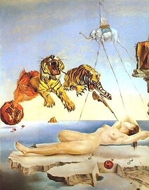1944, art, attack, dali, dream, dreaming