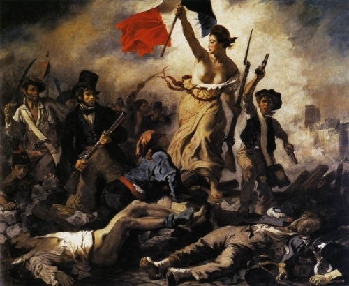 18th century, art, delacroix, french revolution, liberty, painting, revolution