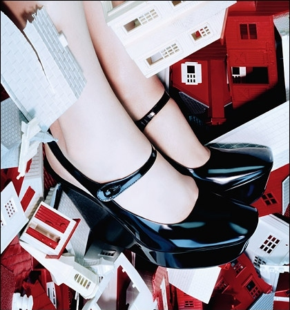 fashion, fashion photography, feet, heels, miles aldridge, shoe porn