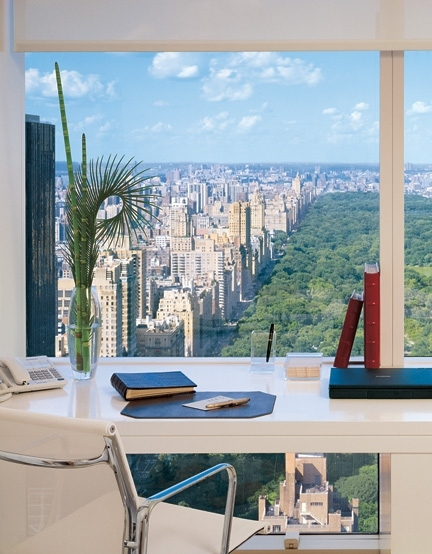 central park, home office, loft, new york city, view