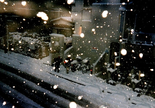 photography, snow, snowfall, snowflakes, snowing, street