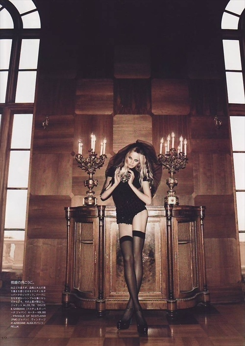 anna maria jagodzinska, fashion, goth, legs, model, stockings